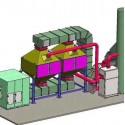 催化燃烧设备废气处理工艺流程图