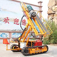 履带式边坡支护锚固钻机 30米履带岩石电钻 履带锚固钻机